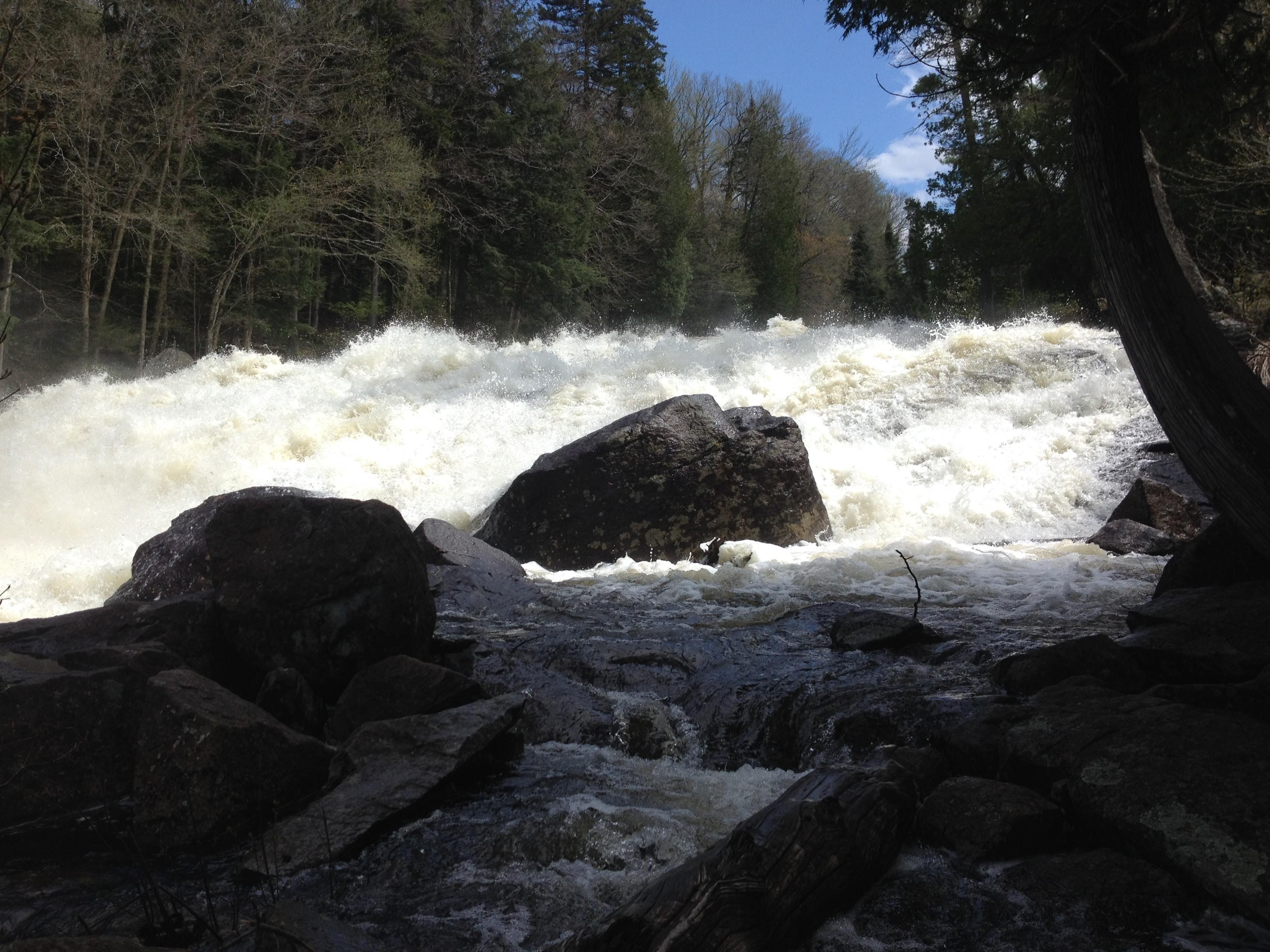 Taken from a rocky perch below the falls